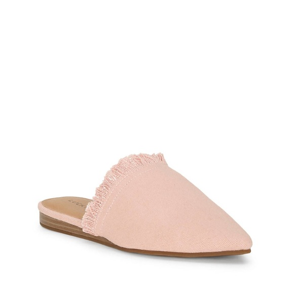 58a97f659db Lucky Brand Shoes - Lucky Brand Pink Bapsee Slide